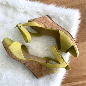 Dolce Vita Mustard Yellow Chartreuse Suede Sandals